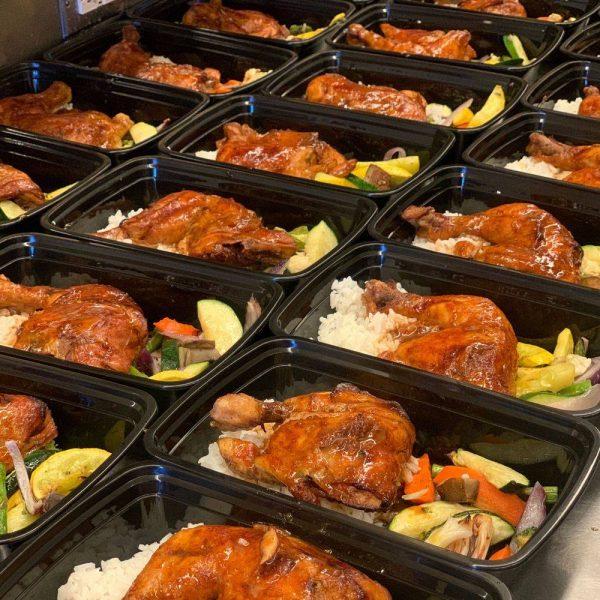 BBQ Chicken Quarter Box meal