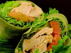 Grilled Chicken Wrap Sandwich Box Lunch