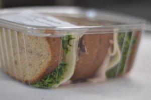 Sandwich inside a package